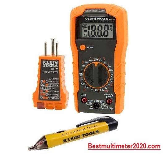 Best Multimeter for electricians 2020 reviews, Klein Tools 69149 Multimeter Test Kit (Complete package)