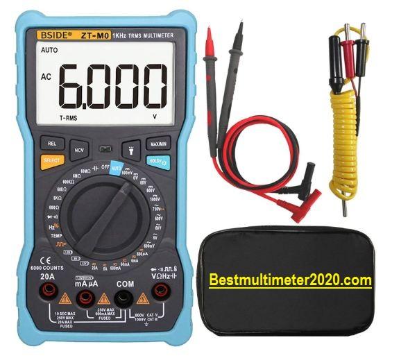 Best Multimeter for electricians 2020 reviews,Bside Large LCD Digital Manual & Smart Mode Design Multimeter (Lightweight)
